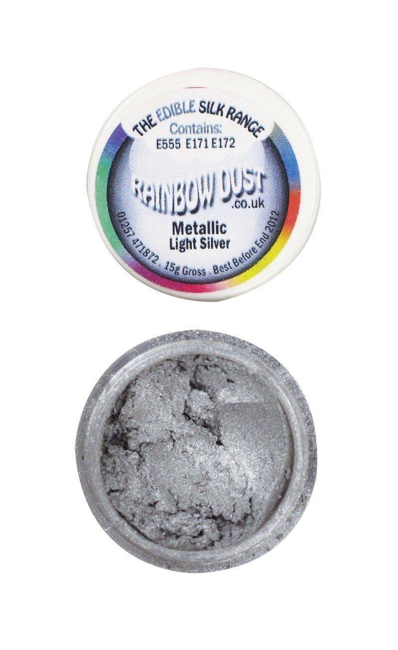 Rainbow Dust - Edible Dust Metallic Light Silver - Βρώσιμη Σκόνη Μεταλλική Φωτεινό Ασημί