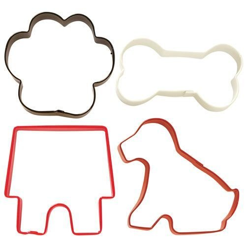 Wilton Cookie Cutter Set of 4 -PET DOG THEMED -4 Κουπάτ με Θέμα Σκυλάκι