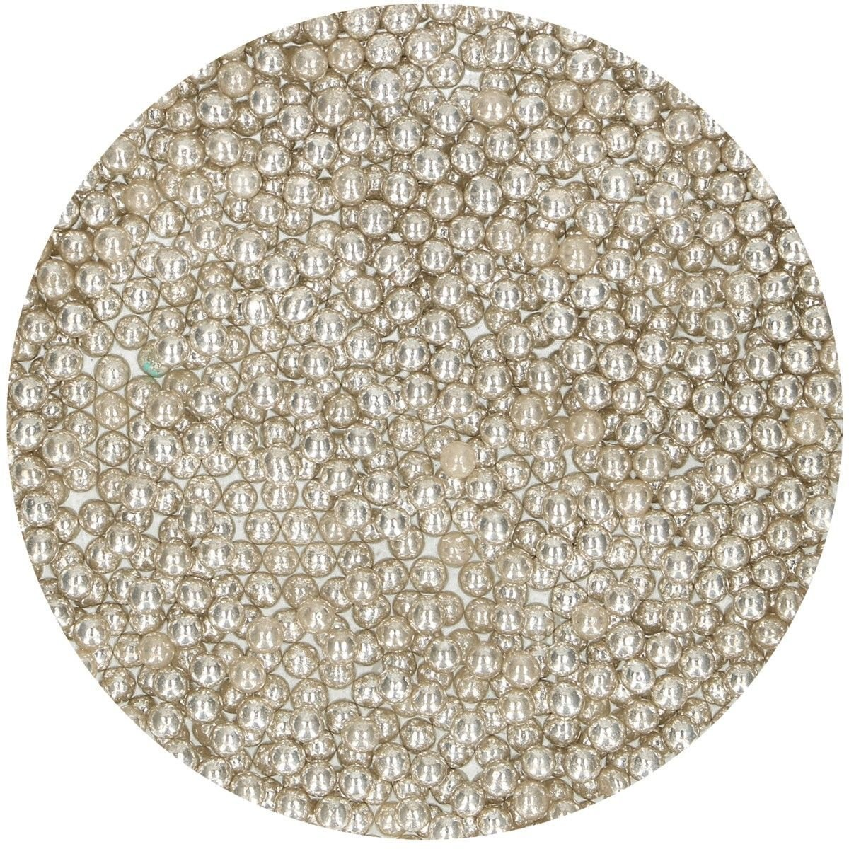 FunCakes Sugarballs -4mm METALLIC SILVER 80g Μπιλίτσες Ασημί