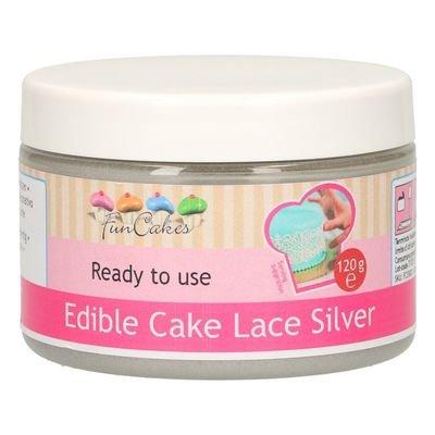 FunCakes Edible Cake Lace -SILVER -Βρώσιμη Μίγμα για δαντέλα -Ασημί 120γρ