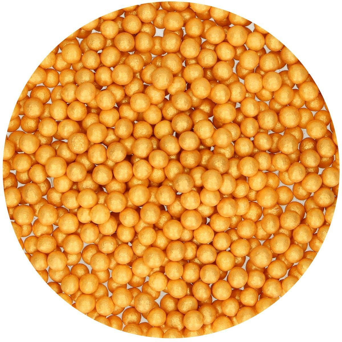 FunCakes Soft Sugarballs 4-6mm -GOLD 60g Μαλακό -Χρυσό