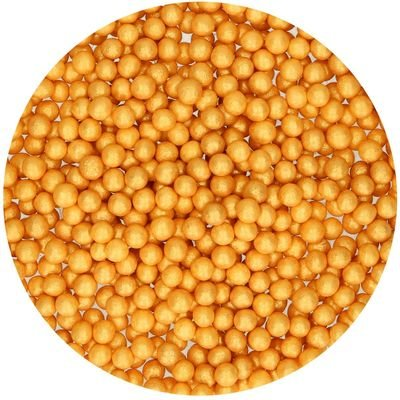 FunCakes Soft Sugarballs 4-6mm -GOLD 60g Μαλακό -Χρυσό