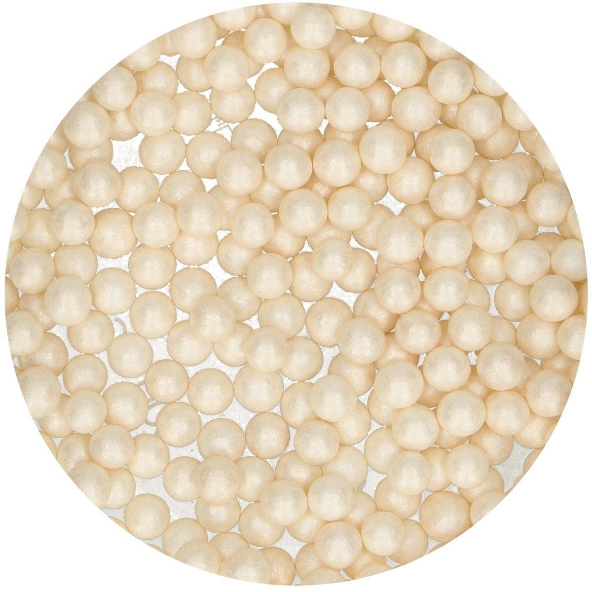 FunCakes Sugarballs -7mm WHITE MAXI 80g Μπιλίτσες Μεγάλες Λευκές