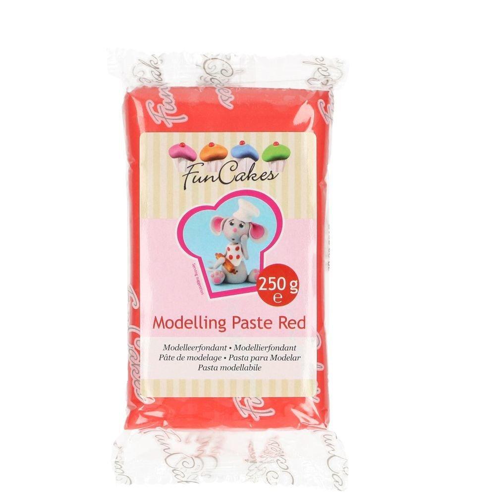 FunCakes Modelling Paste Red -Ζαχαρόπαστα Mοντελισμού -Κόκκινη -250γρ