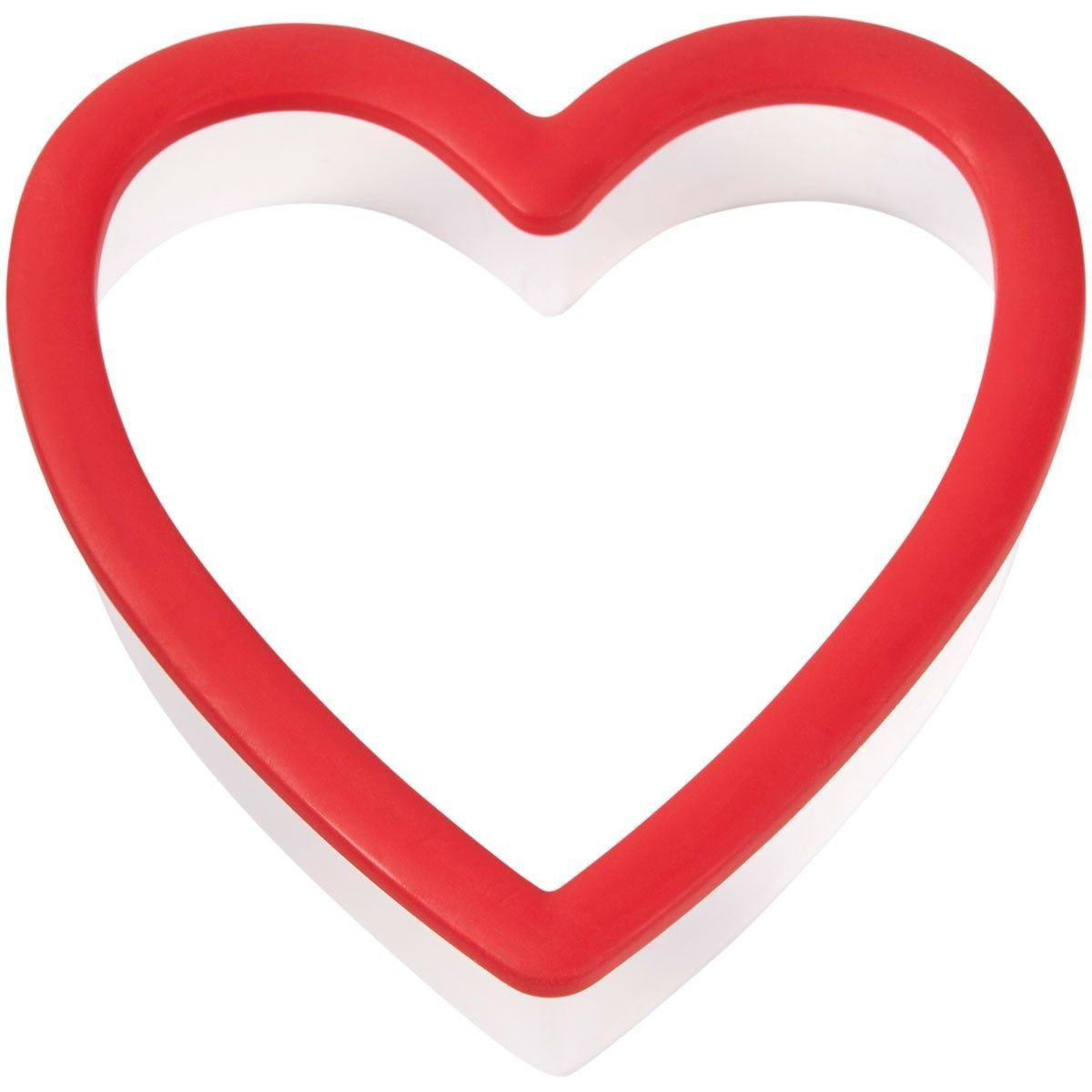 Wilton Plastic Grippy Cutter -HEART -Κουπάτ Καρδιά με λαβή σιλικόνης -9εκ