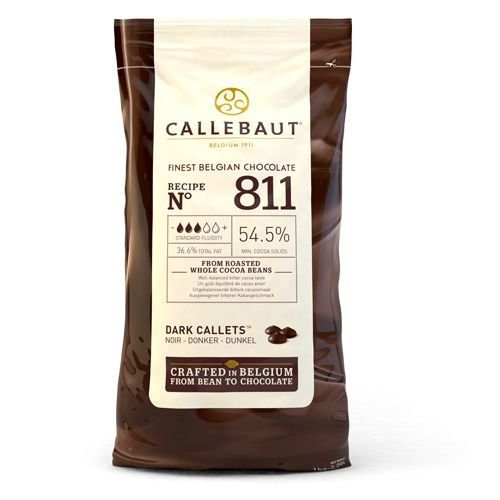 Callebaut Chocolate Callets -DARK CHOCOLATE -Σταγόνες Βέλγικης Σοκολάτας Υγείας 1 κιλό