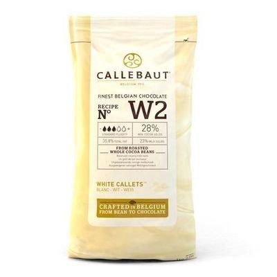 Callebaut Chocolate Callets -WHITE CHOCOLATE -Σταγόνες Βέλγικης Σοκολάτας Callebaut Λευκή 1 Κιλό