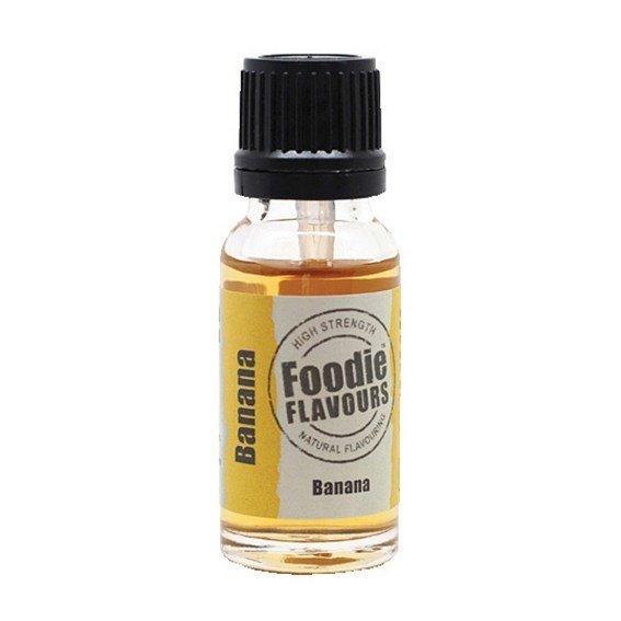 Foodie Flavours Natural BANANA Flavouring -Φυσικό Άρωμα με Γεύση Μπανάνα 15ml