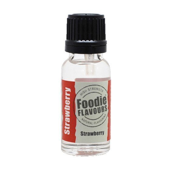 Foodie Flavours - Natural Strawberry Flavouring - Φυσικό Άρωμα με Γεύση Φράουλα - 15ml