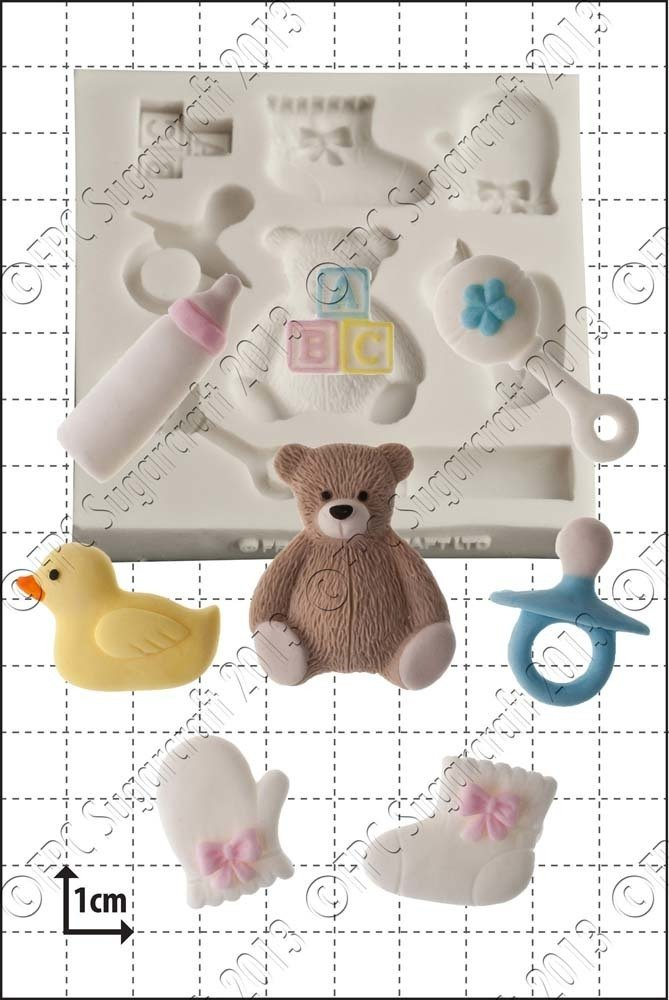 FPC - Baby Shower Silicone Mould - Καλούπι Μωρουδιακά