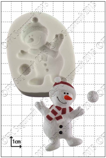 FPC Silicone Mould -DANCING SNOWMAN -Καλούπι Χιονάνθρωπος που Χορεύει