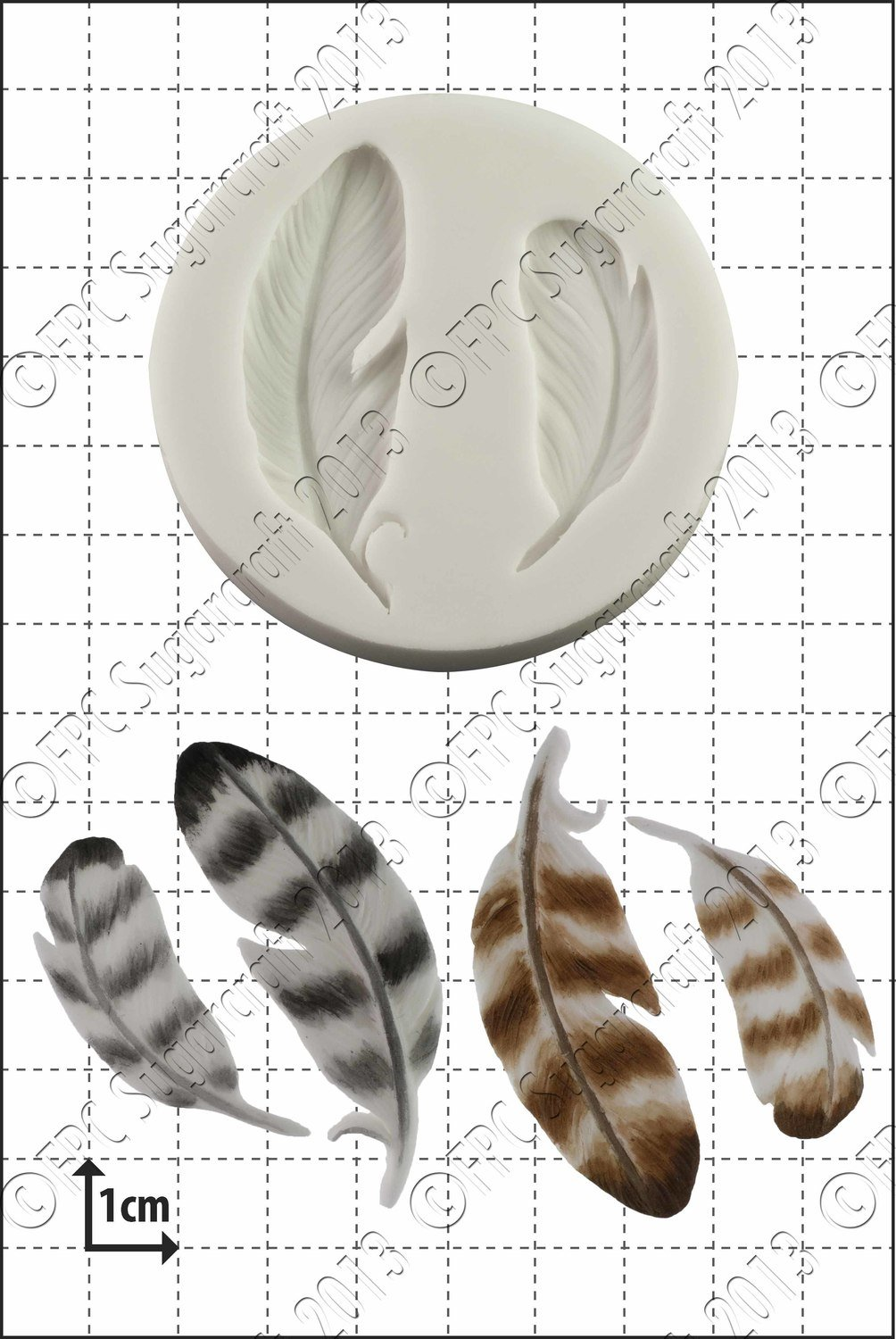 FPC Silicone Mould -FEATHERS -Καλούπι Φτερά