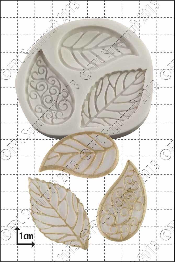 FPC Silicone Mould -FILIGREE LEAVES -Καλούπι Φύλλα Φιλιγκριέ
