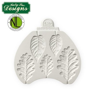 Katy Sue Silicone Mould by Nicholas Lodge -BLACKBERRY & OAK LEAVES -Καλούπι Φύλλα Bατόμουρου & Bελανιδιάς