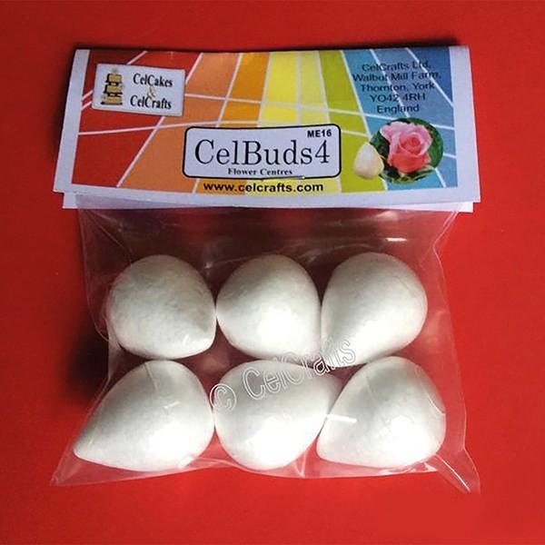 CelBuds4 Polystyrene Flower Buds 28mm -Μπουμπούκια Λουλουδιών Πολυστερίνης 6 τεμ