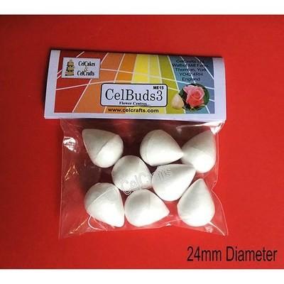 CelBuds3 Polystyrene Flower Buds 24mm -Μπουμπούκια Λουλουδιών Πολυστερίνης 8 τεμ