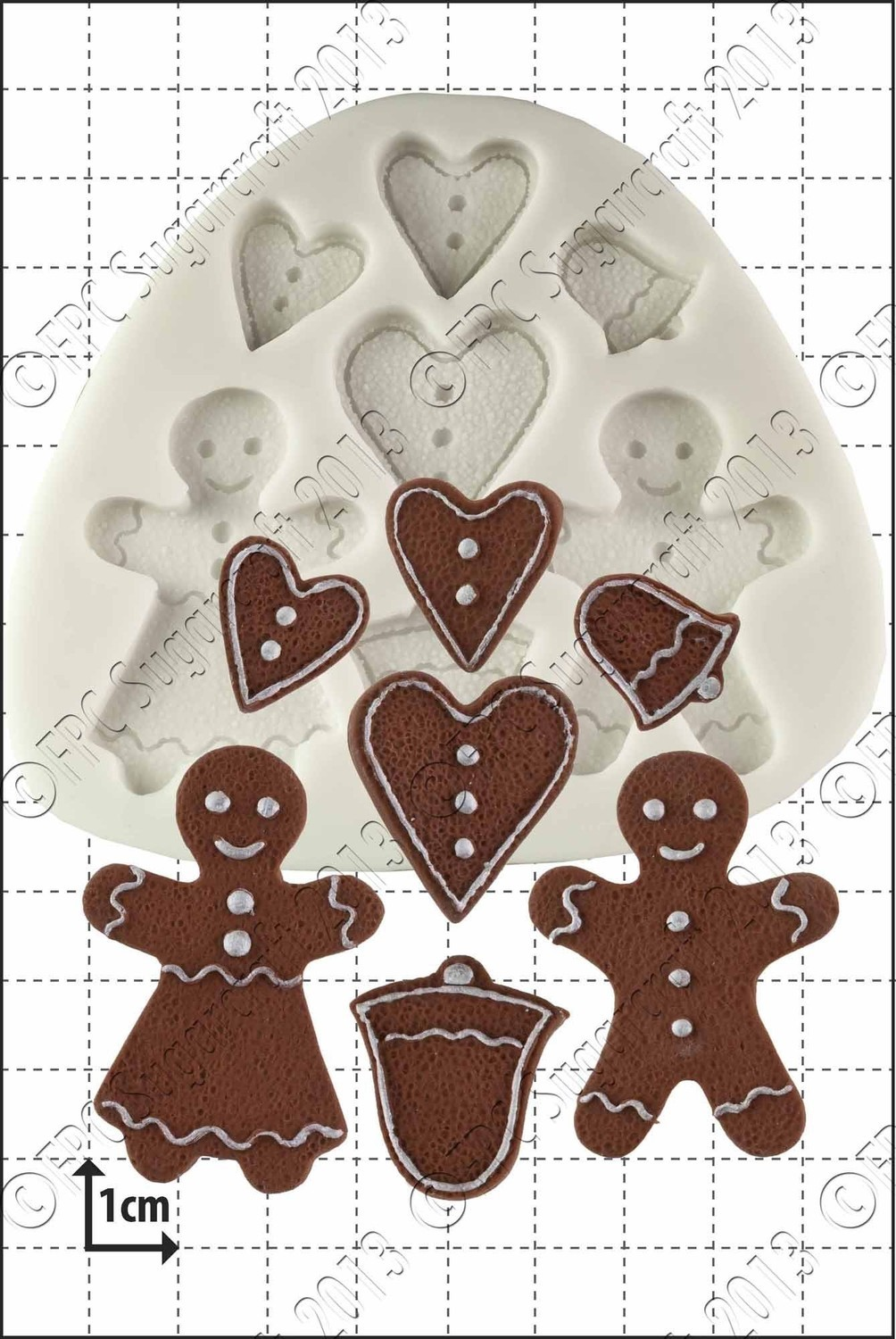 By FPC -Silicone Mould -GINGERBREAD PEOPLE -Καλούπι Μπισκοτένια Ανθρωπάκια