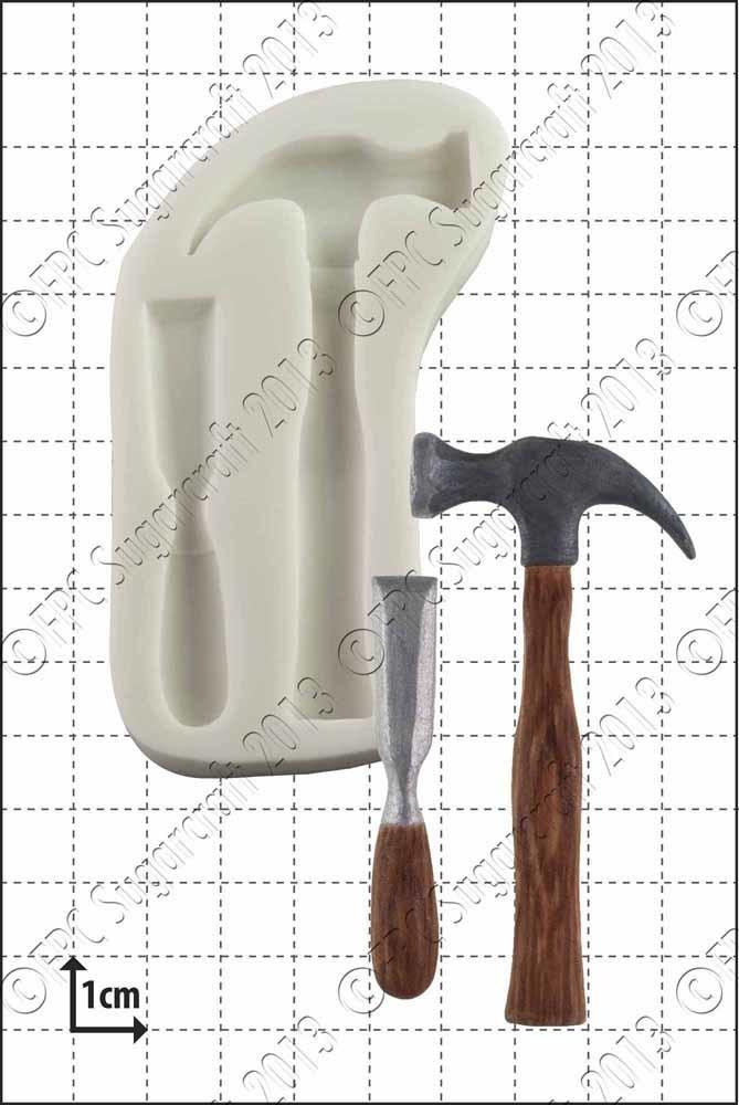 FPC - Hammer & Chisel Silicone Mould - Καλούπι Σφυρί και Καλέμι