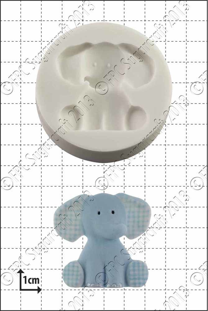 FPC - Nursery Elephant Silicone Mould - Καλούπι Παιδικός Ελέφαντας