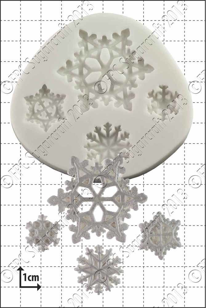 FPC Silicone Mould -SNOWFLAKES -Καλούπι Χιονονιφάδες