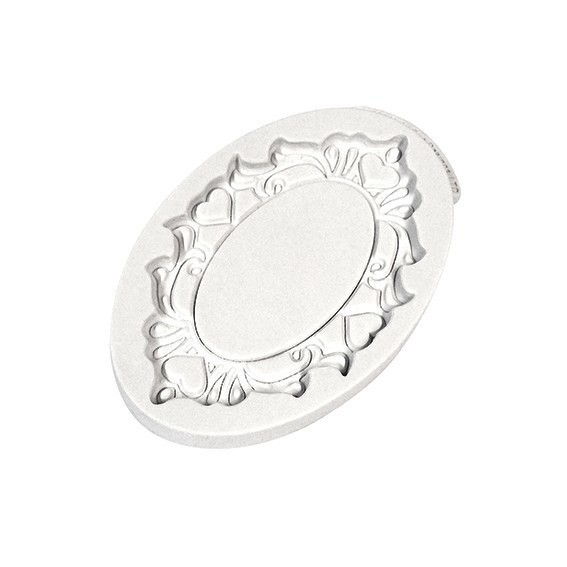 Katy Sue Mould Decorative Plaque Oval Hearts -Καλούπι Διακοσμητική Πλάκα Οβάλ με Καρδιές