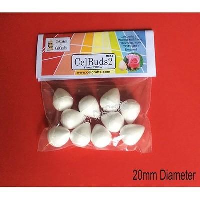 CelBuds2 Polystyrene Flower Buds 20mm -Μπουμπούκια Λουλουδιών Πολυστερίνης 10 τεμ