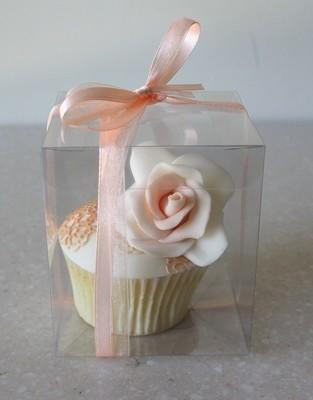 # Clear Cupcake Display Box -Διάφανο Κουτάκι για Cupcake 8x8x9εκ