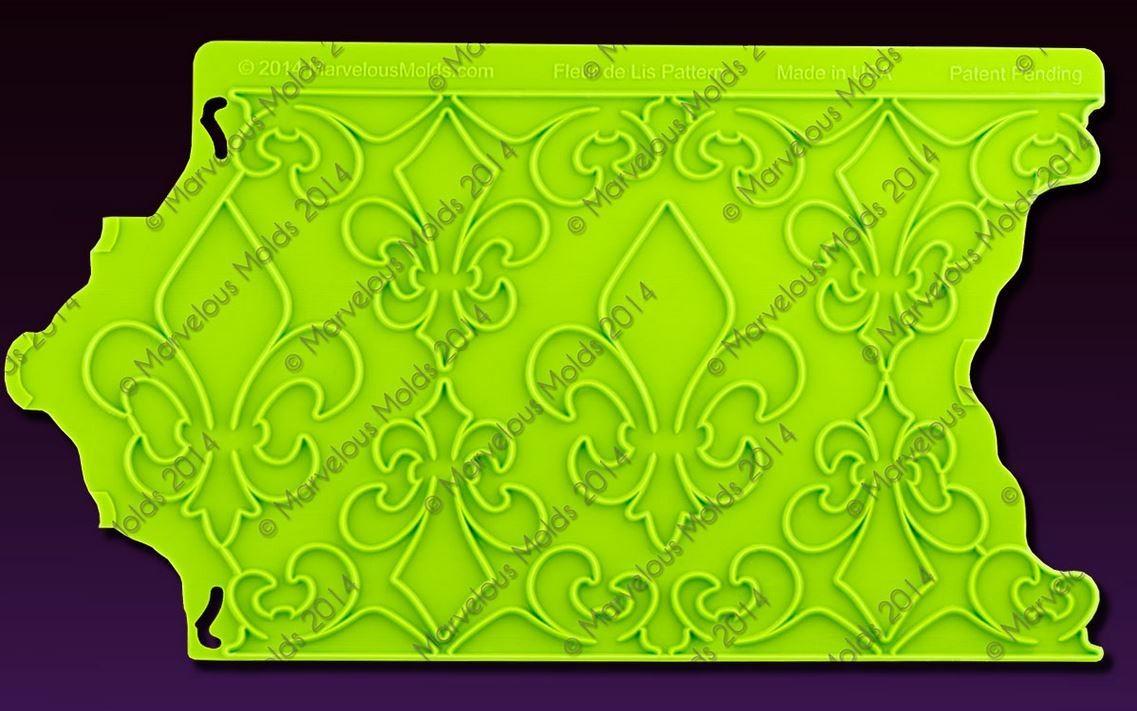 SALE!!! Marvelous Moulds Silicone ONLAY -FLEUR DE LIS -Καλούπι Πατάκι Σιλικόνης -Λουλούδι Τριπλό