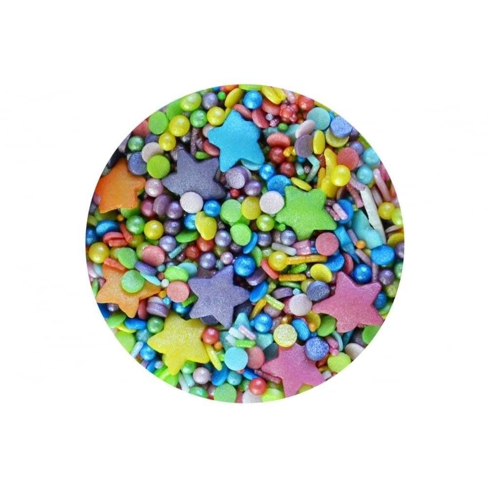 Sprinkletti Edible Sprinkles -RAINBOW BLEND -Μείγμα Κονφετί Ουράνιο Τόξο 100γρ