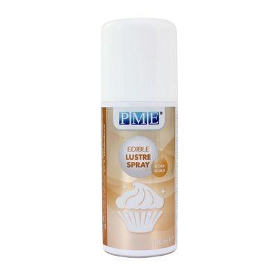 PME Edible Spray -Metallic ROSE GOLD -Βρώσιμο Σπρέι Γυαλάδας Χρυσό Ροζέ 100ml