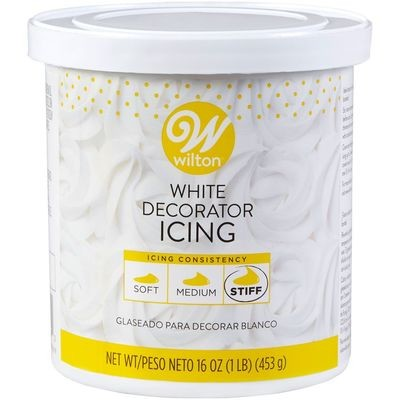 Wilton - Decorator Icing White Stiff Consistency - Σκληρό Γλάσο Διακόσμησης - 453γρ