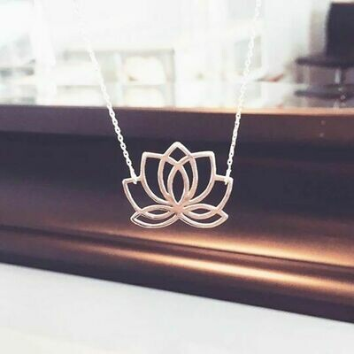 ALJ Signature  Lotus Necklace