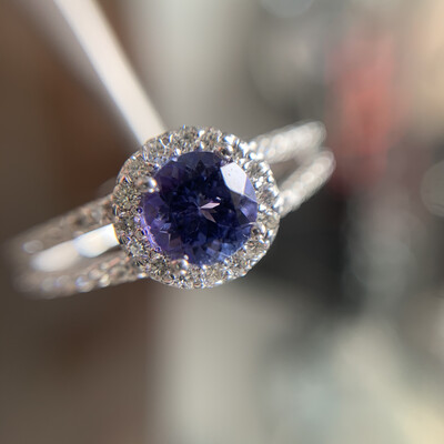 Penny Lane Tanzanite And Diamond Ring