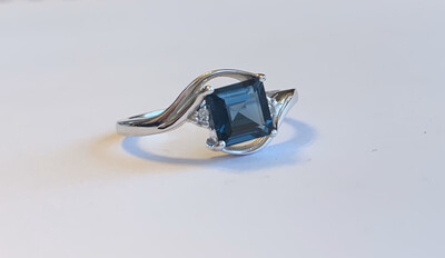 London Blue Topaz Bypass Ring