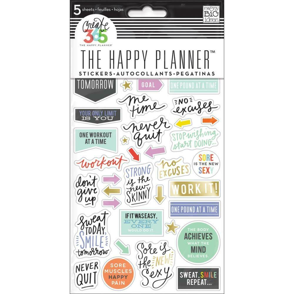 MAMBI Create 365 planner stickers (fitness theme)
