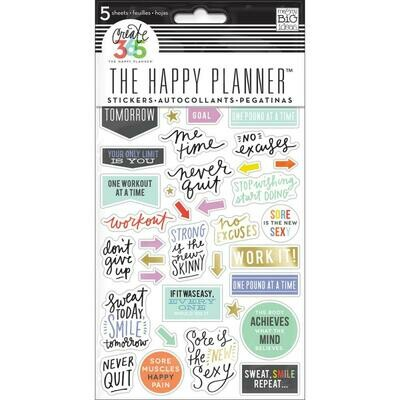 MAMBI Create 365 planner stickers (fitness theme)