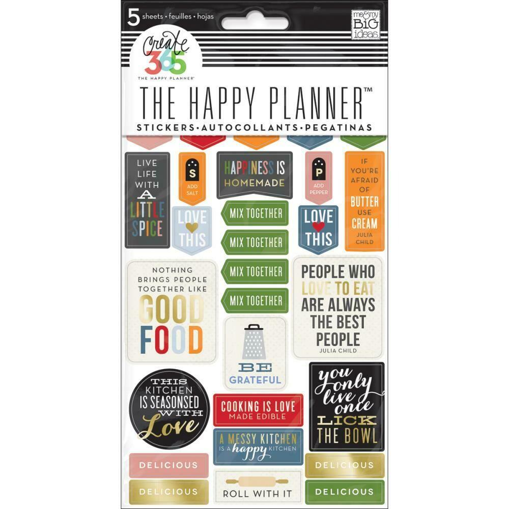 MAMBI Create 365 planner stickers (food theme)