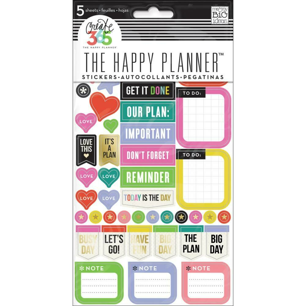 MAMBI Create 365 planner stickers (reminders theme)