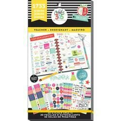 MAMBI Create 365 Happy Planner Sticker Value Pack (teacher  theme - 1,733 pieces)