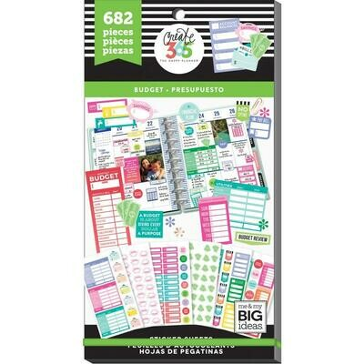 MAMBI Create 365 Happy Planner Sticker Value Pack (budget theme - 682 pieces)
