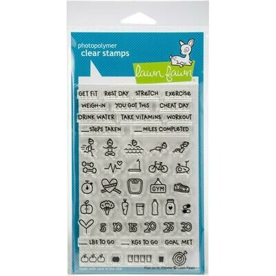 Plan on It: Fitness Lawn Fawn Clear Stamps 4