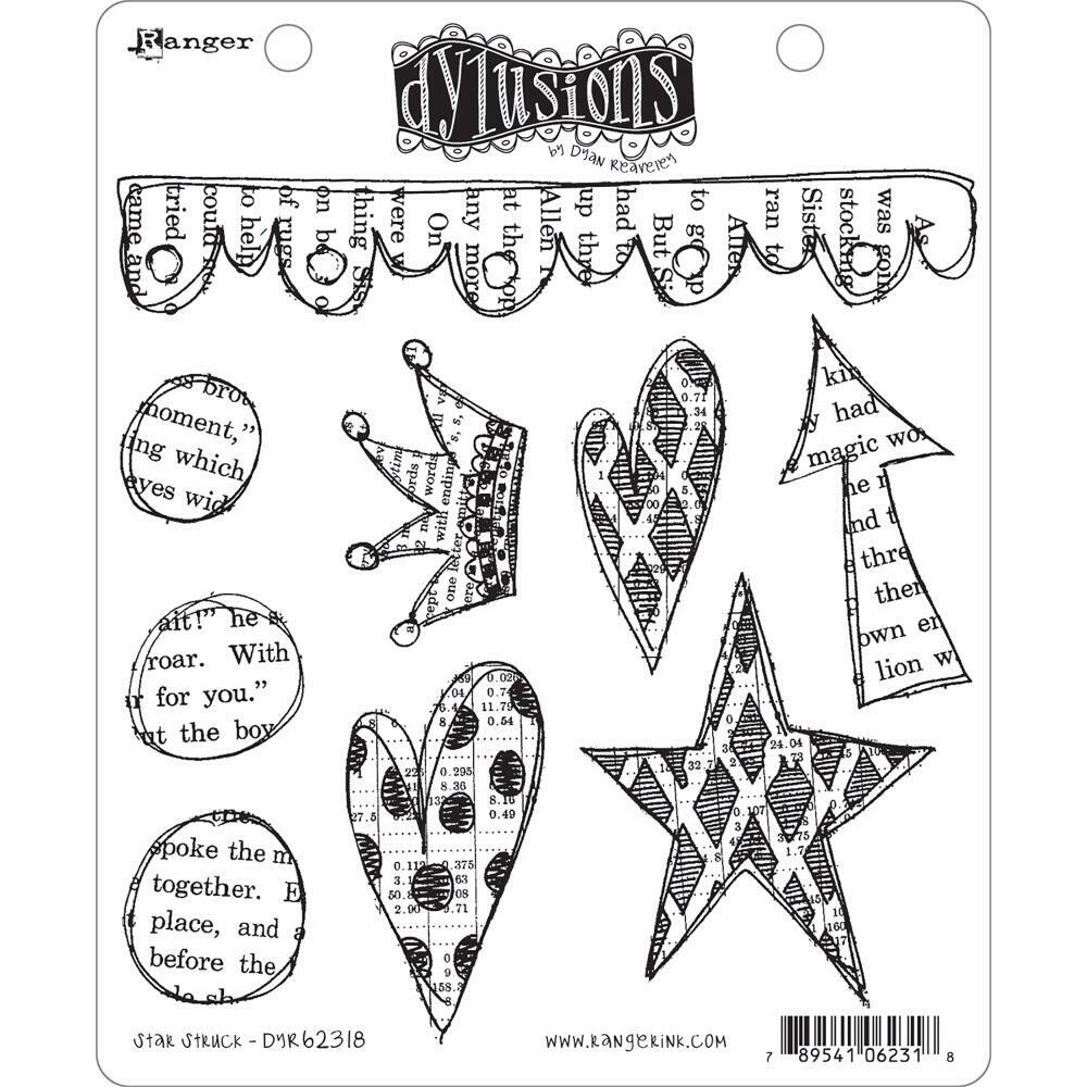 """Star Struck Dyan Reaveley's Dylusions Cling Stamp Collections 8.5""""X7"""""""