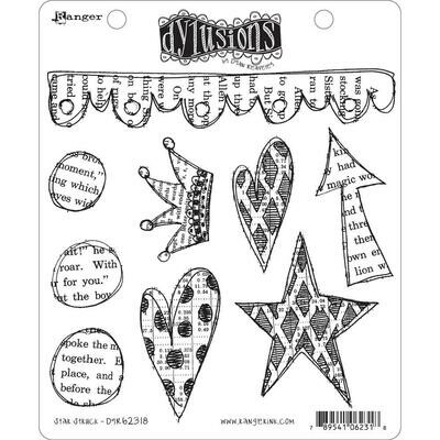 Star Struck Dyan Reaveley's Dylusions Cling Stamp Collections 8.5