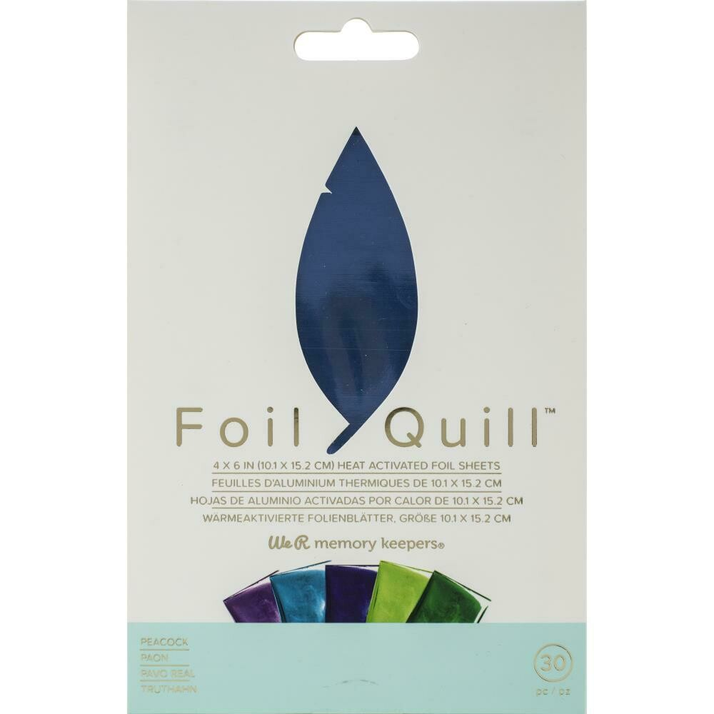 """Peacock WRMK Foil Quill Foil Sheets 4""""X6"""" 30/Pkg"""