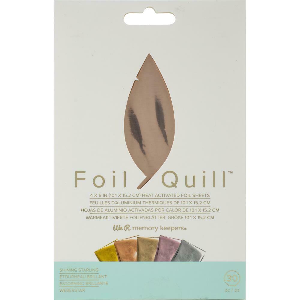 "Shining Starling WRMK Foil Quill Foil Sheets 4""X6"" 30/Pkg"
