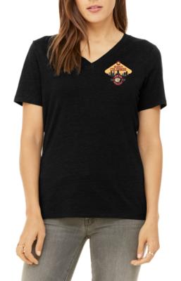 Women's 100% cotton t-shirt - VNECK