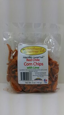 Red Chile Corn Chips with Lime
