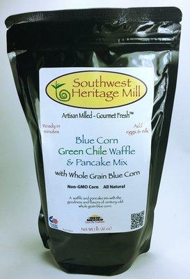 Blue Corn Green Chile Waffle and Pancake Mix
