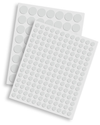 SCRAPBOOK ADHESIVES 3D FOAM CIRCLES WHITE MIX