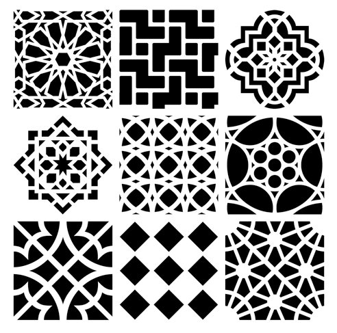 CRAFTER'S WORKSHOP 12 X 12 STENCIL MOROCCAN TILES